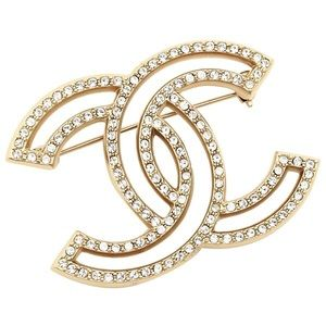 Chanel Classic CC Brooch XL in Gold Tone Hardware